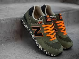 New Balance ml 574 Camo Olive Orange RARE Size 12 Limited
