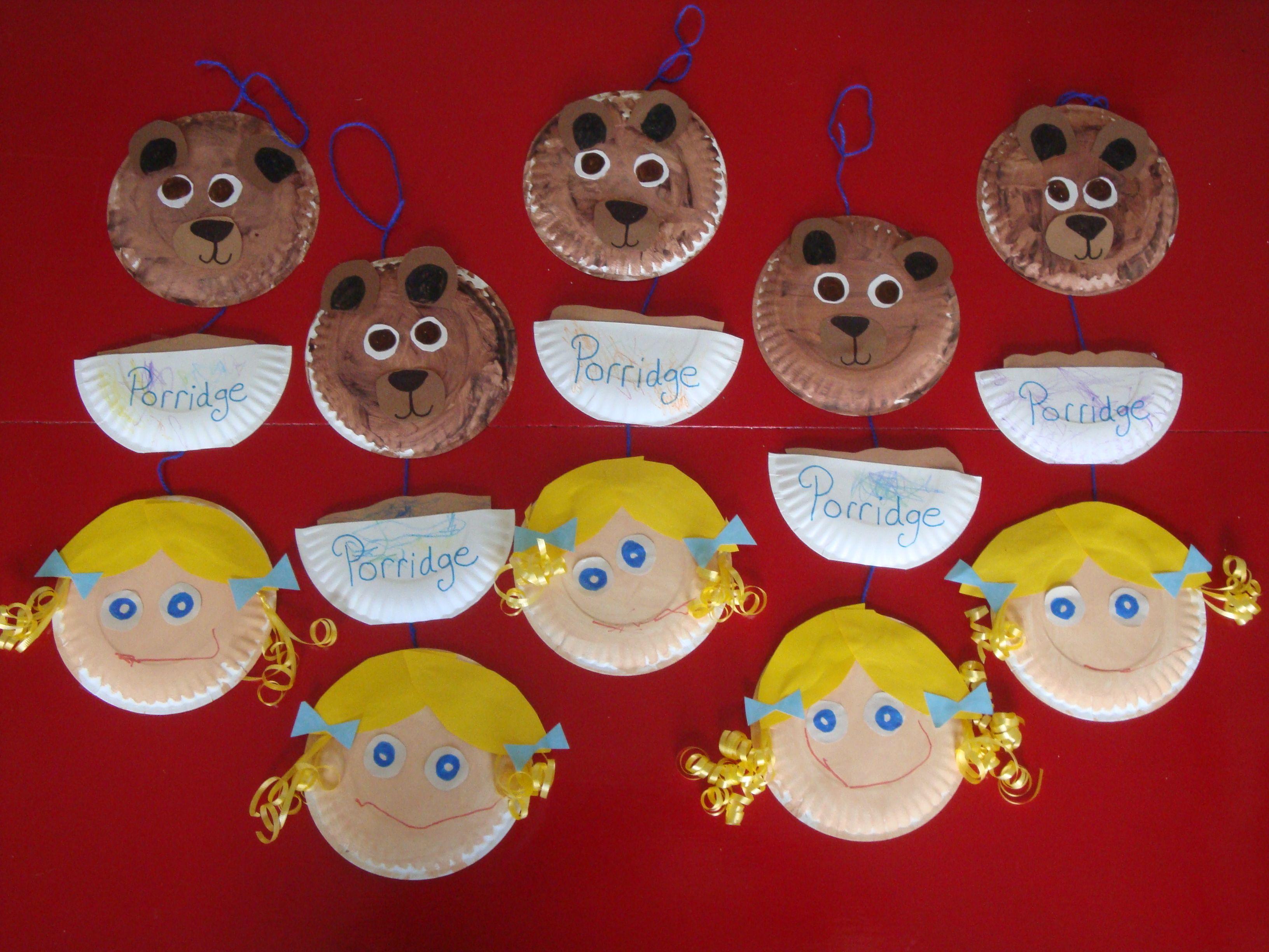 Goldilocks Paper Plate Craft
