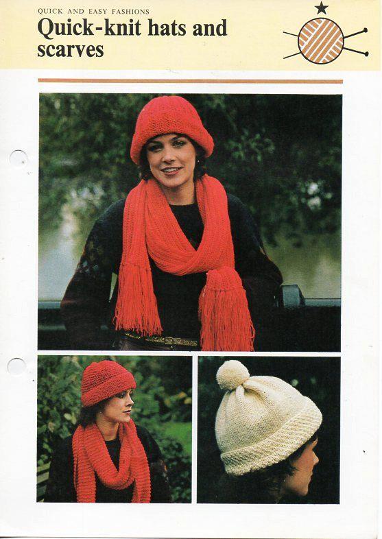 Vintage Womens Hat Scarf Set Knitting Pattern Pdf Download Dk Ladies