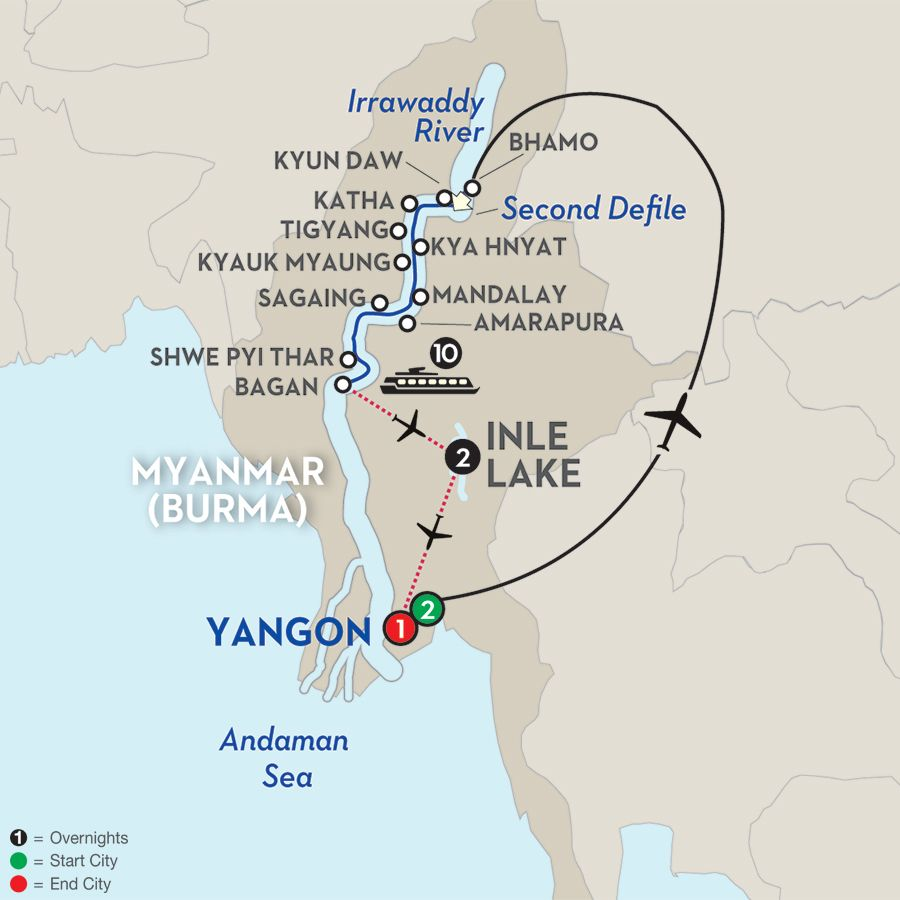 Golden Myanmar The Alluring Irrawaddy With Inle Lake - Where is myanmar