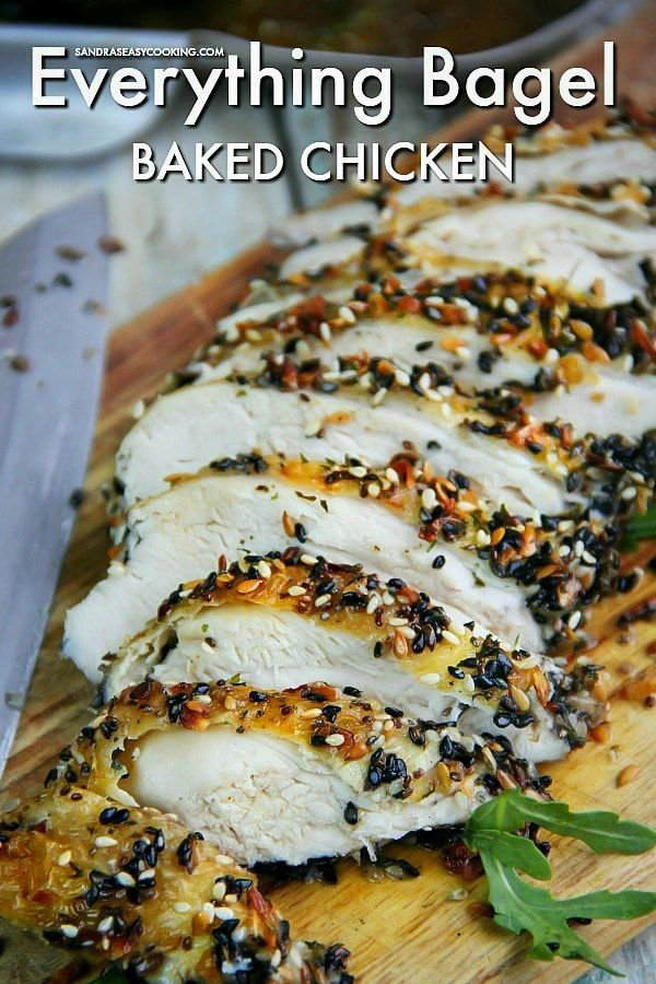 Everything Bagel Baked Chicken - Sandra's Easy Cooking