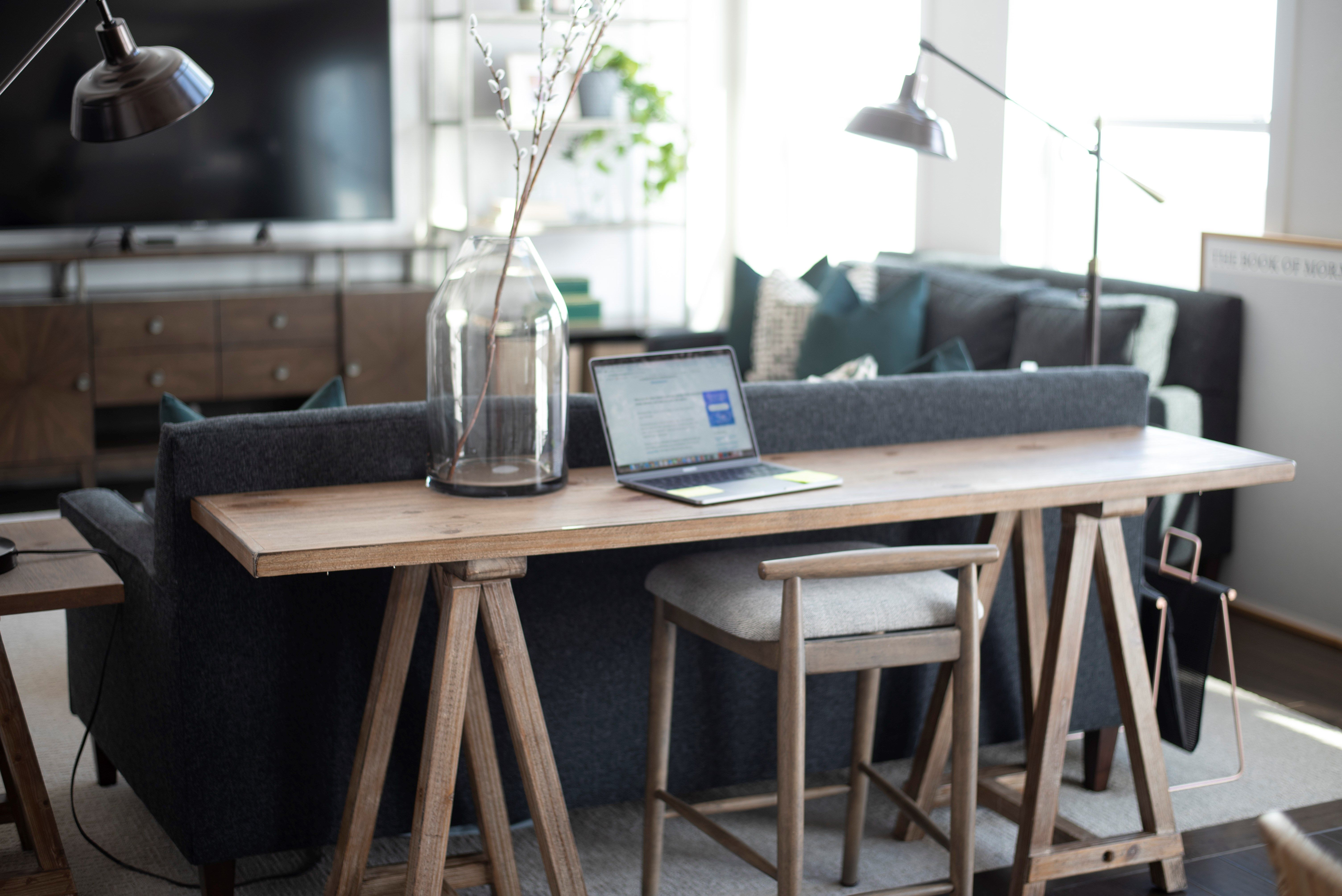 Ways To Use That Behind The Couch Area Love Our Sofa Table Desk
