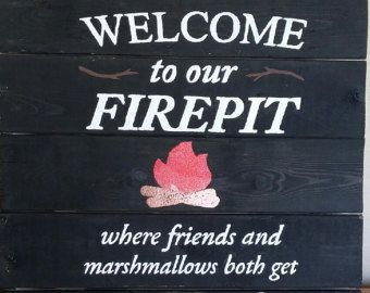 Fire pit Rules campfire rules Backyard decor by Wildoaks ...