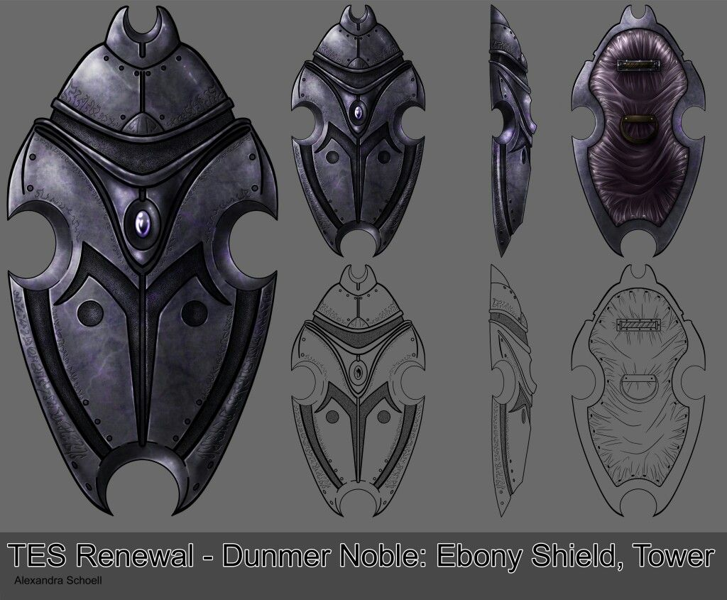 Ebony tower shield | Dunmer/Morrowind Lore in 2019 | Weapons