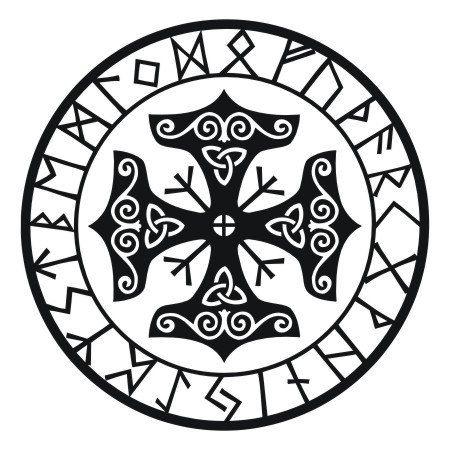 viking protection runes talisman black vinyl decal. Black Bedroom Furniture Sets. Home Design Ideas
