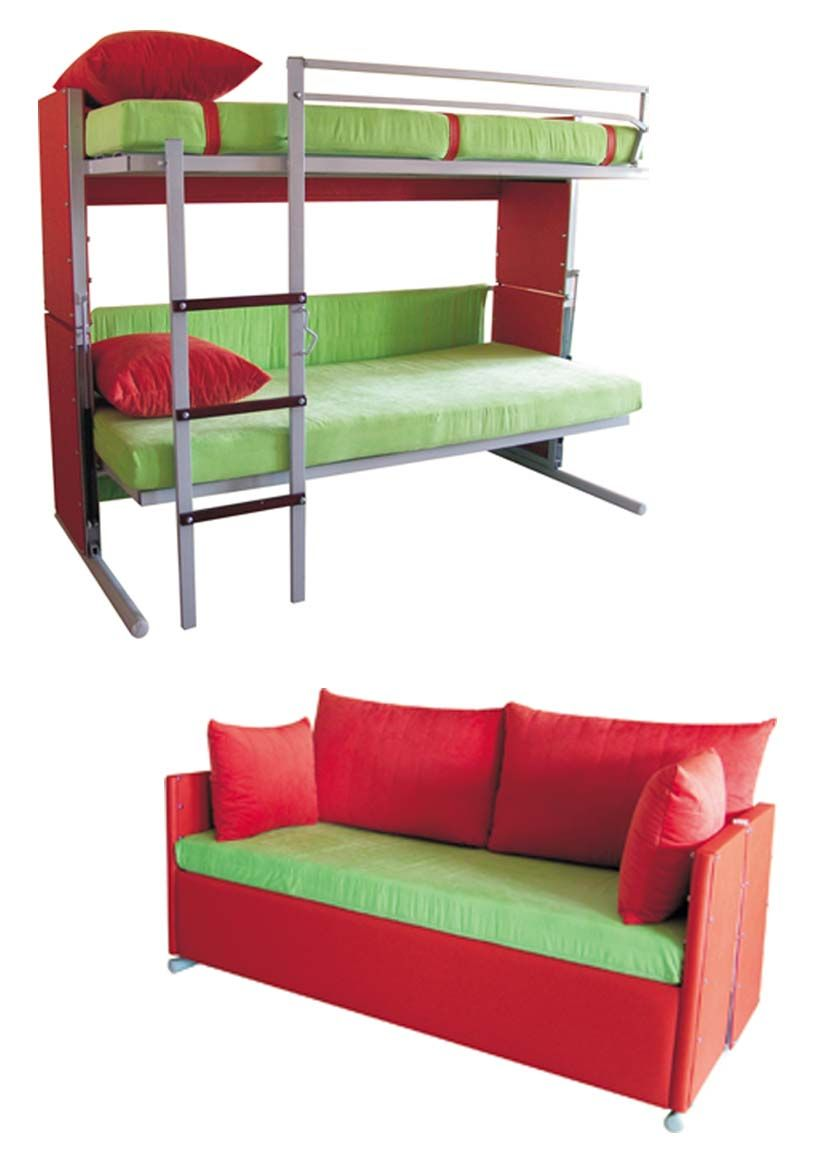 Multifunction Designs Couch That Turns Into Bunk Beds