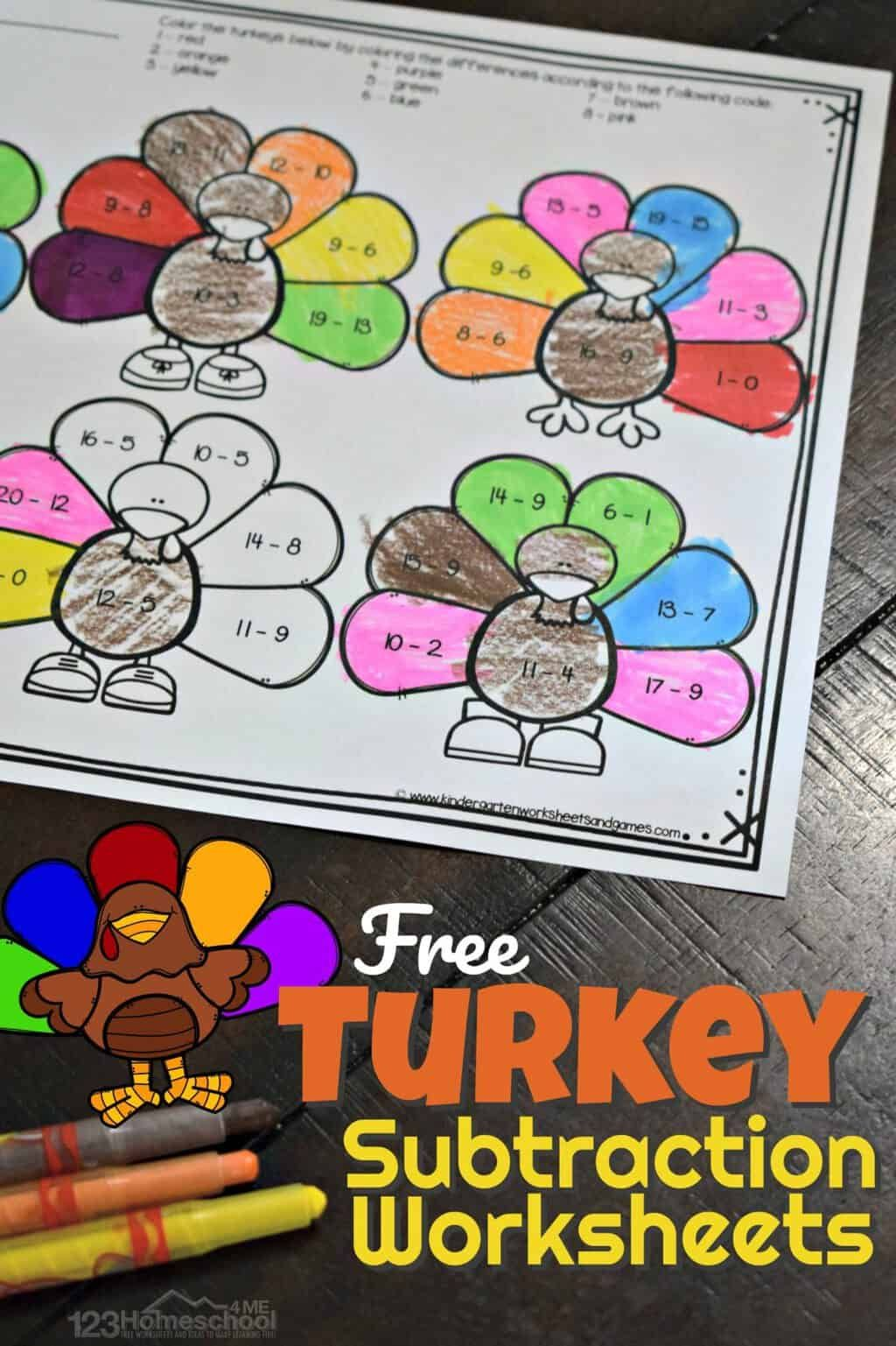 Free Turkey Subtraction Thanksgiving Math Worksheets Thanksgiving Math Worksheets Thanksgiving Math Turkey Math [ 1537 x 1024 Pixel ]