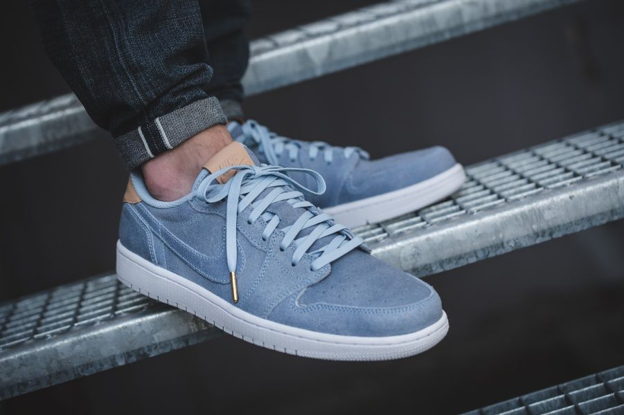 brand new b257d 37b94 ... promo code air jordan 1 retro low og premium ice blue white vachetta  tan credit 43einhalb