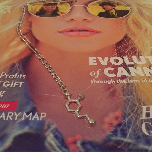 I'm happy molecule necklace THC Cute hippie happy molecule necklace! Lovehappytokes Jewelry Necklaces