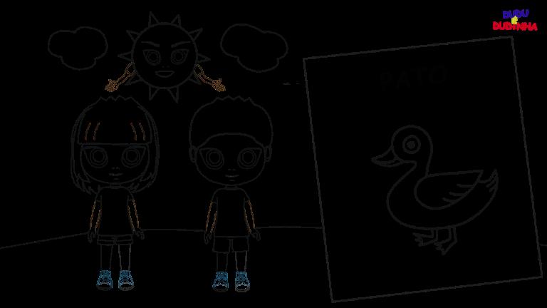 Desenho Para Colorir Dudu E Dudinha Desenhopassoapasso