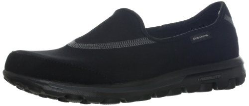 Zapatos negros casual Skechers Bikers para mujer VJZzX