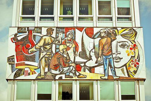Haus des Lehrers, Mosaik Walter Womacka
