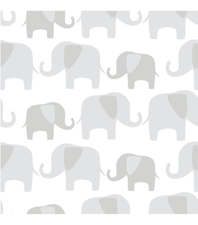 Wallpops Nuwallpaper Gray Elephant Parade Peel And Stick Wallpaper Jo Ann Grey Elephant Wallpaper Nuwallpaper Elephant Wallpaper