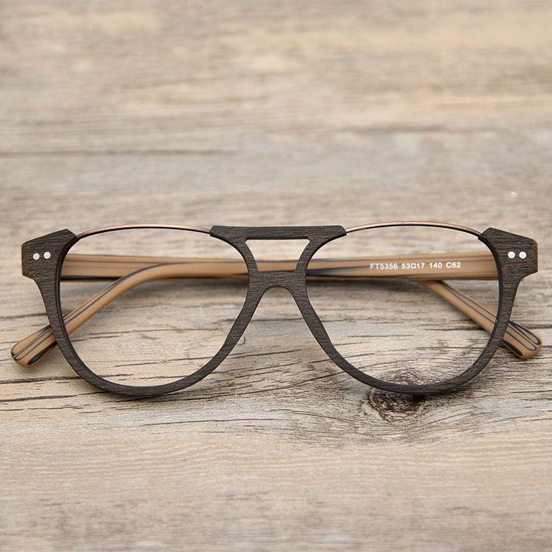 Free Shipping Buy Best Vazrobe Wooden Grain Eyeglasses