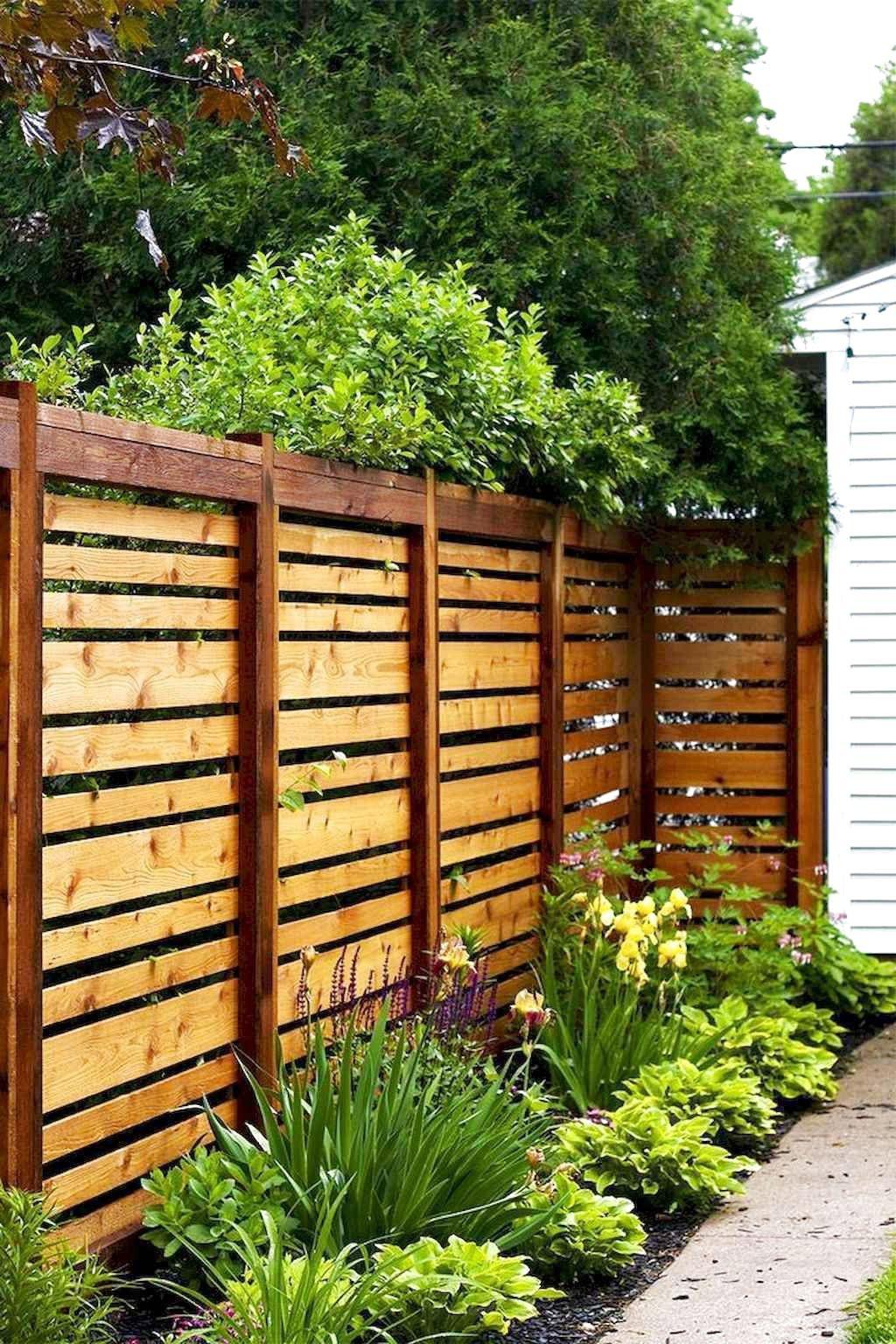 63 Stunning Backyard Privacy Fence Decoration Ideas On A Budget