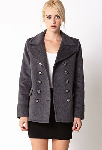 Iconic Double-Breasted Peacoat | FOREVER 21