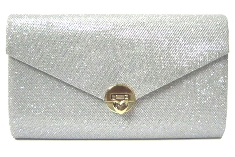 For your bridesmaid proposal, tuck a card or small gift inside this silver white envelope clutch! Watch their faces light up when they open it!