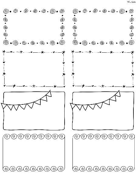 Printable Doodle Borders Labels By Inktreepress World Label Blog Labels Printables Free Doodle Borders Label Templates