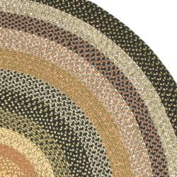 Hand Woven Indoor Outdoor Reversible Multicolor Braided Rug 6 Round