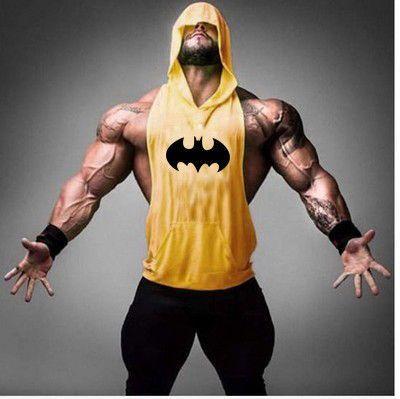ce1bace7a35b8 Mens Stringer Batman Tank Tops Bodybuilding Clothing Fitness Sleeveless  Singlet Shirt Sexy Tank Top Hoodies For Men