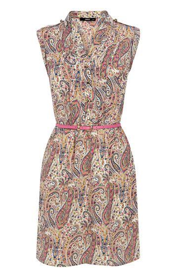 fbf3b0028b5c Paisley Print T-Shirt Dress | Things to Wear | Dresses, Oasis dress ...