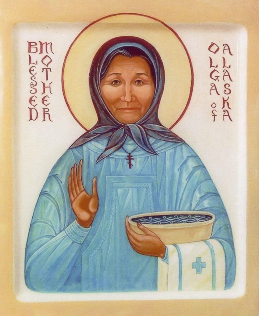 I love this Icon of Blessed Matushka Olga of Alaska