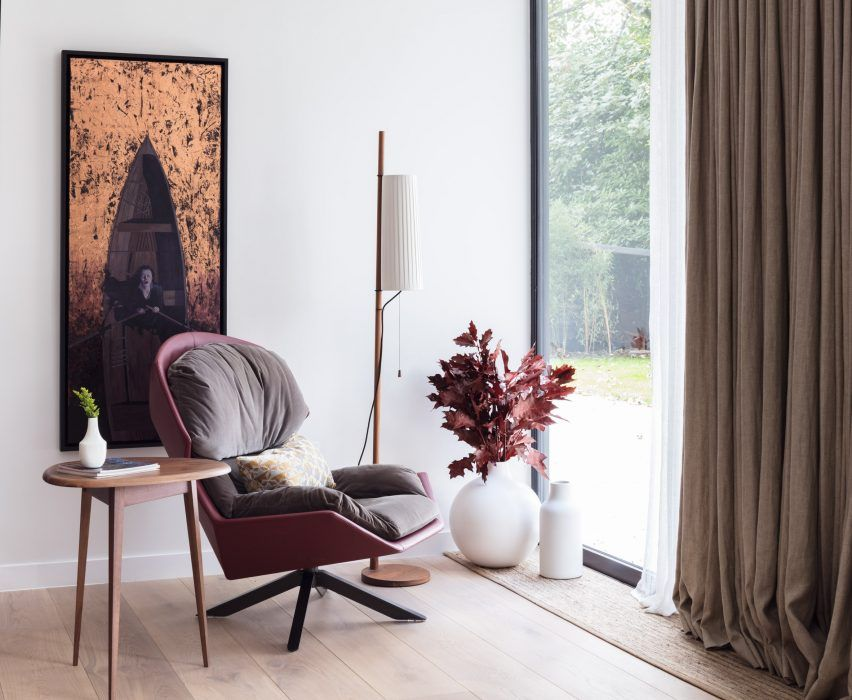 London based studio black milk has used a neutral colour scheme with rich textures to overhaul the interior of this three bedroom property in hampstead