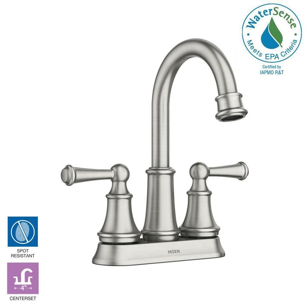 Moen Brecklyn 4 In Centerset 2 Handle Bathroom Faucet In Spot