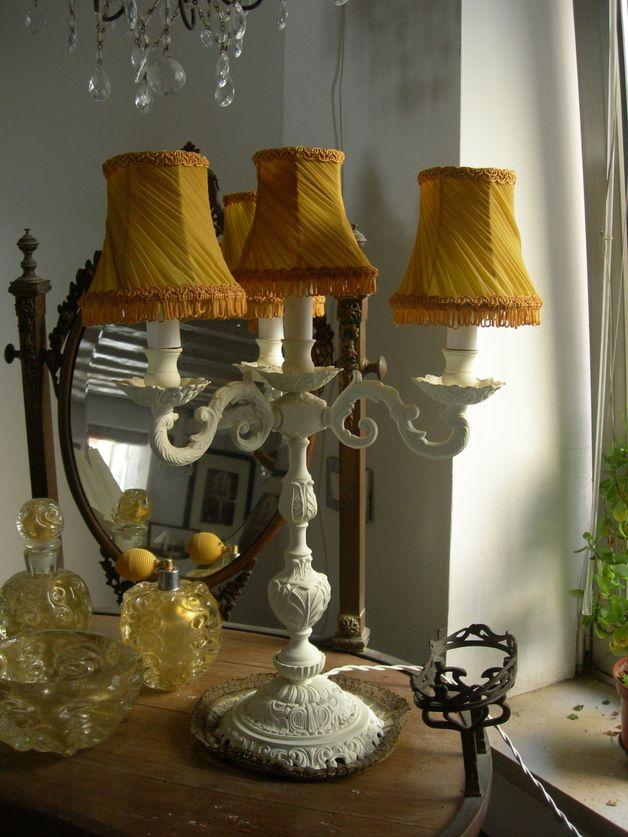 Lampes De Bureau Ancienne Lampe Chandelier En Bronze Shabby Chic