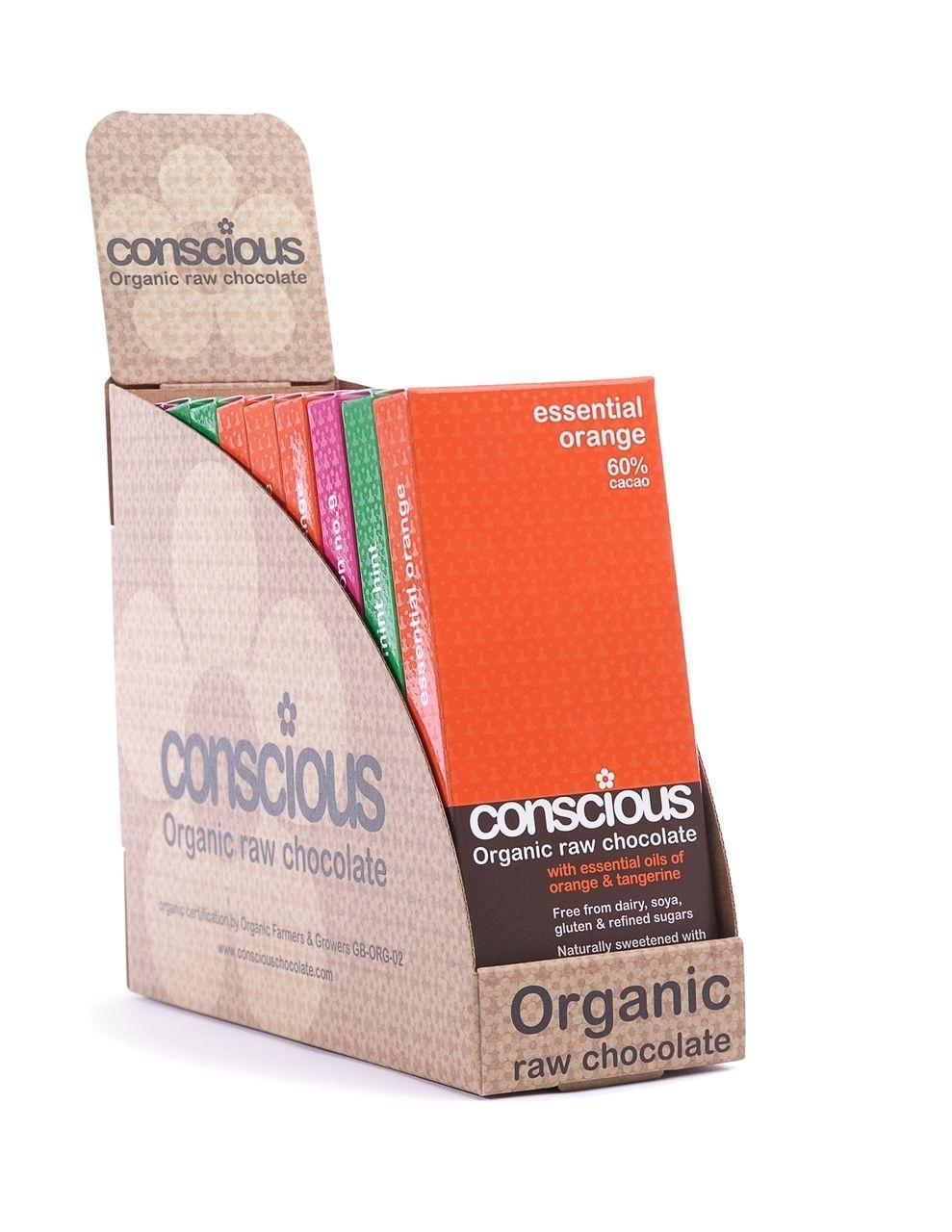 Essential Mixed Box Of 10 Vegan Raw Organic Chocolate 50g Conscious Chocolate Bars Organic Bar Organic Chocolate Chocolate