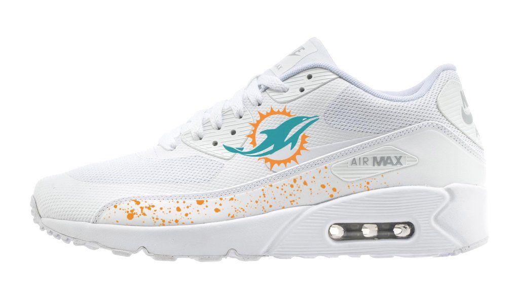wholesale dealer 16413 707ea Customized Miami Dolphins Nike Sneakers, Men s, ...