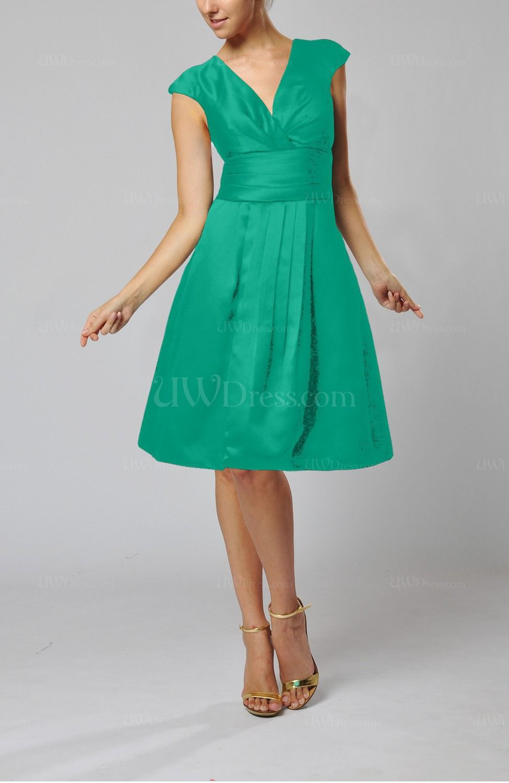 Emerald Green Semi Formal Dress Emerald Green Elegant A Line Short Sleeve Taffeta Knee Dark Green Bridesmaid Dress Dark Blue Bridesmaid Dresses Guest Dresses [ 1500 x 975 Pixel ]