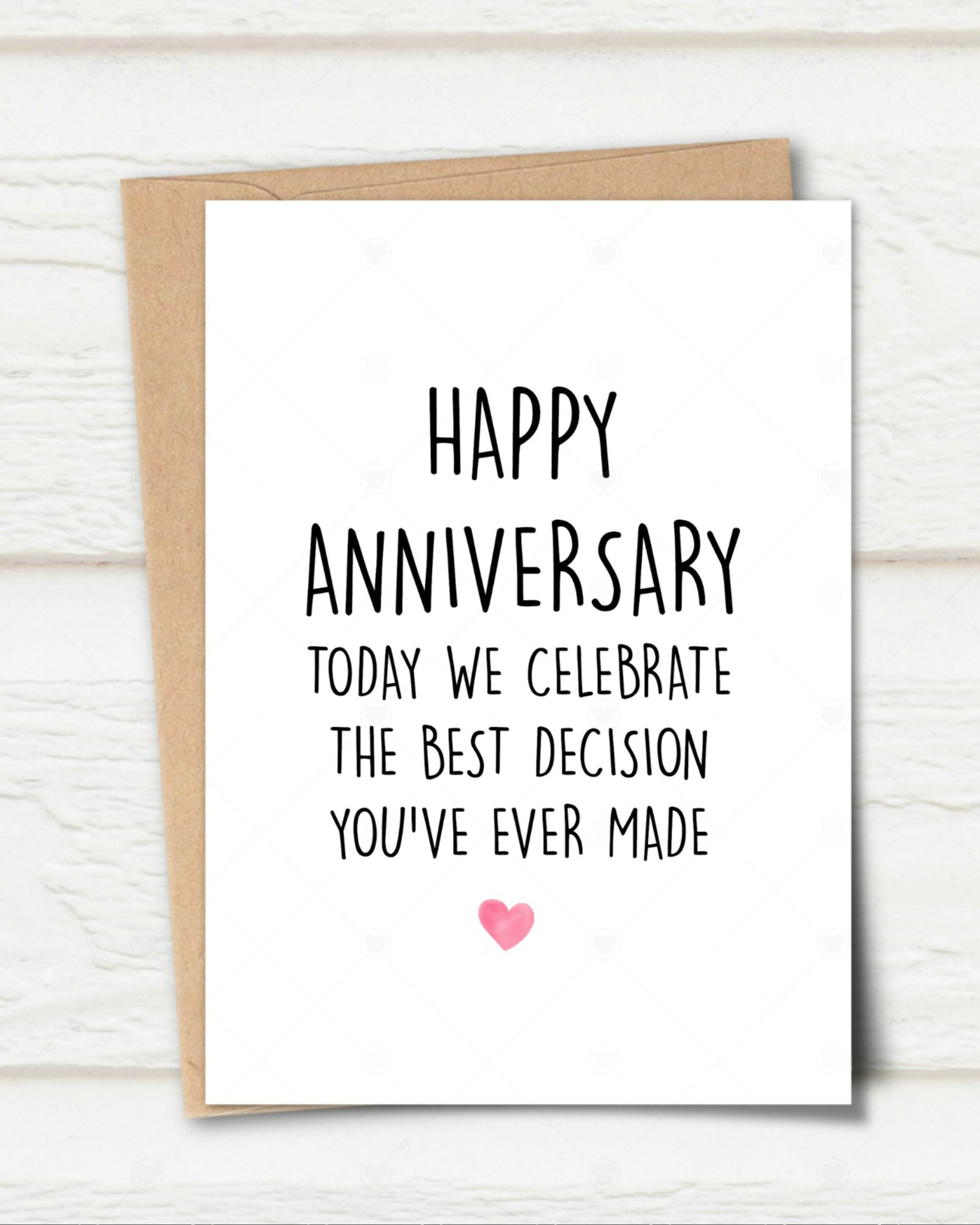 Printable Anniversary Card Best Decision You Ever Made Card Funny Anniversary Card Funny Anniversary Cards Sarcastic Anniversary Card Printable Anniversary Cards Funny Anniversary Cards Anniversary Cards