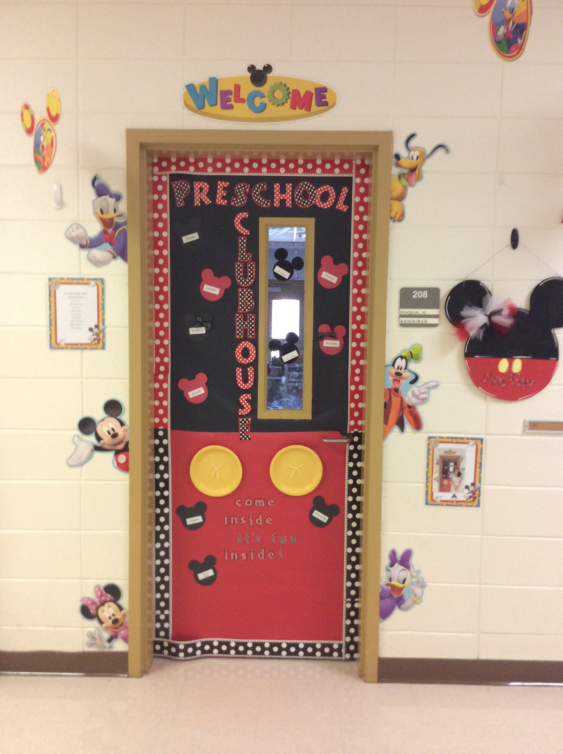 Mickey Mouse Clubhouse Bedroom Decor Classroom Door Mickey Mouse Themed Classroom Pinterest