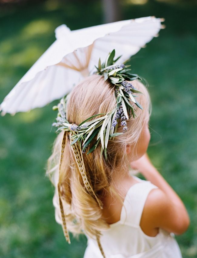 Sweet lavender + olive headwreath