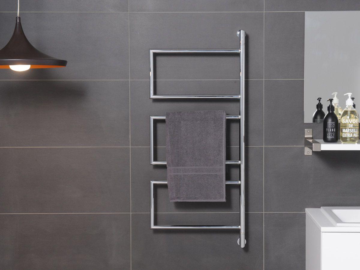 Bathroom radiators towel rails it is represent classic rectangular - Hydrotherm Milan Triple Swivel Heated Rail