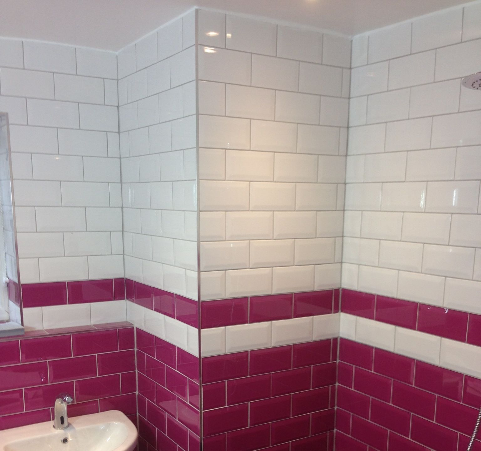white metro tiles - £0.19 ea from www.tilemountain.co.uk | Bathroom ...