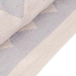 Photo of Zigzag Kilim rug, gray Size: 120×170 Cult Furniture