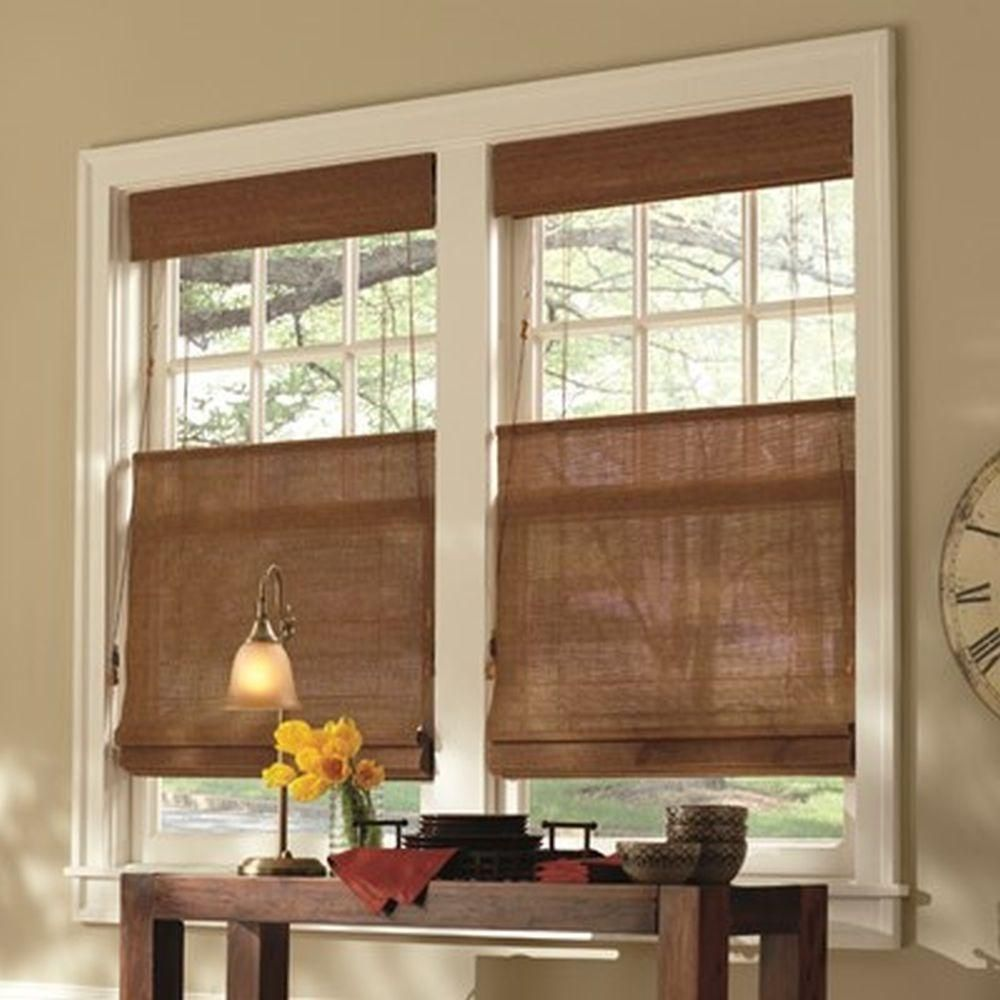 Eyebrow window coverings  home decorators collection woven wood shade âuac x âuac  custom
