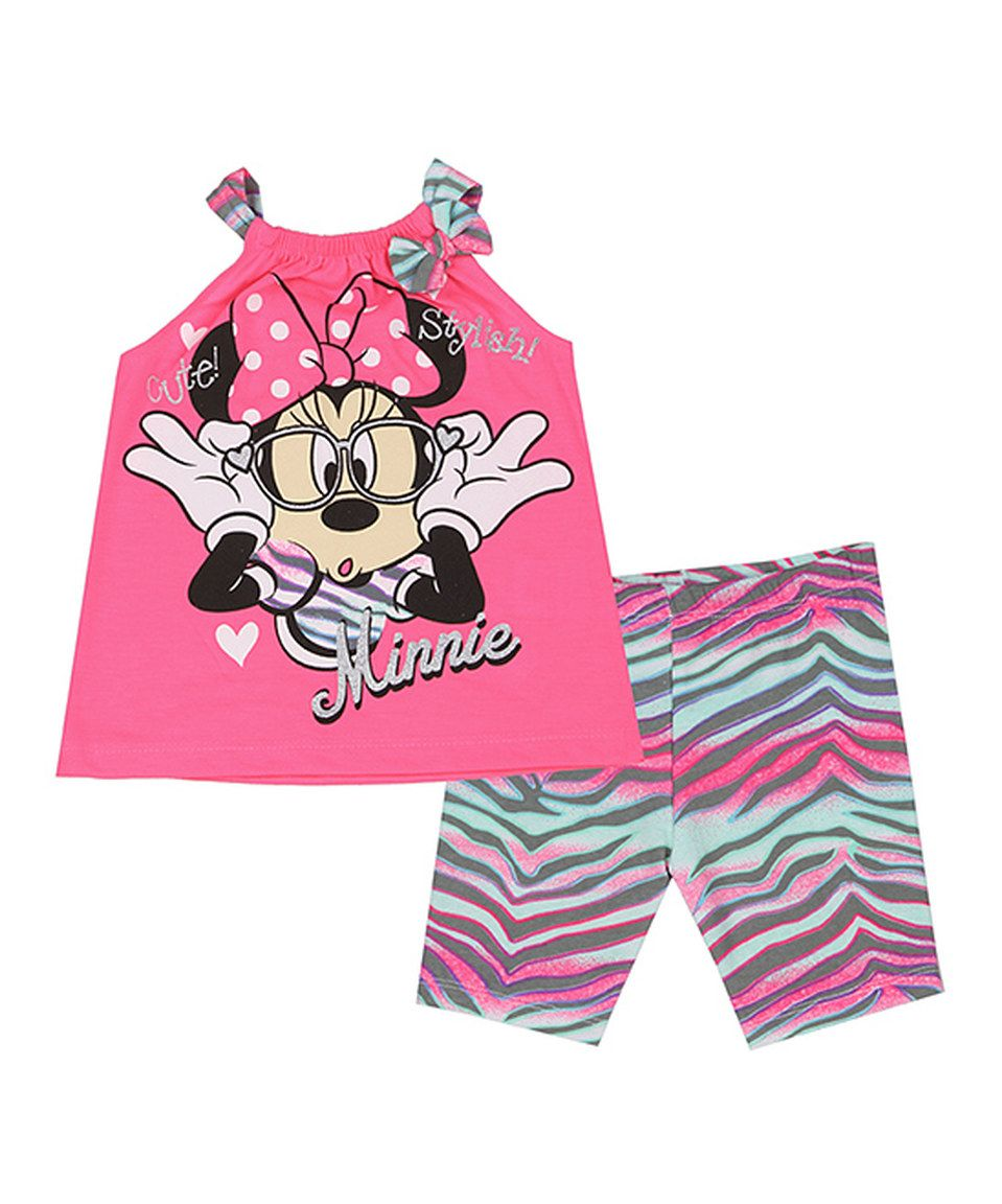 Love this Pink Minnie Mouse Tank & Biker Shorts - Infant by Penguin Kids Wear on #zulily! #zulilyfinds