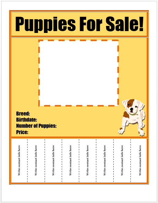 puppies for sale flyer template template pinterest sale flyer