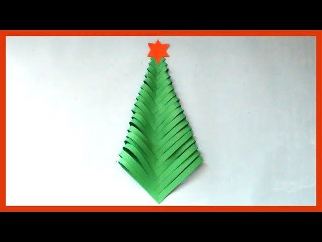 diy how to make paper christmas tree at home christmas card