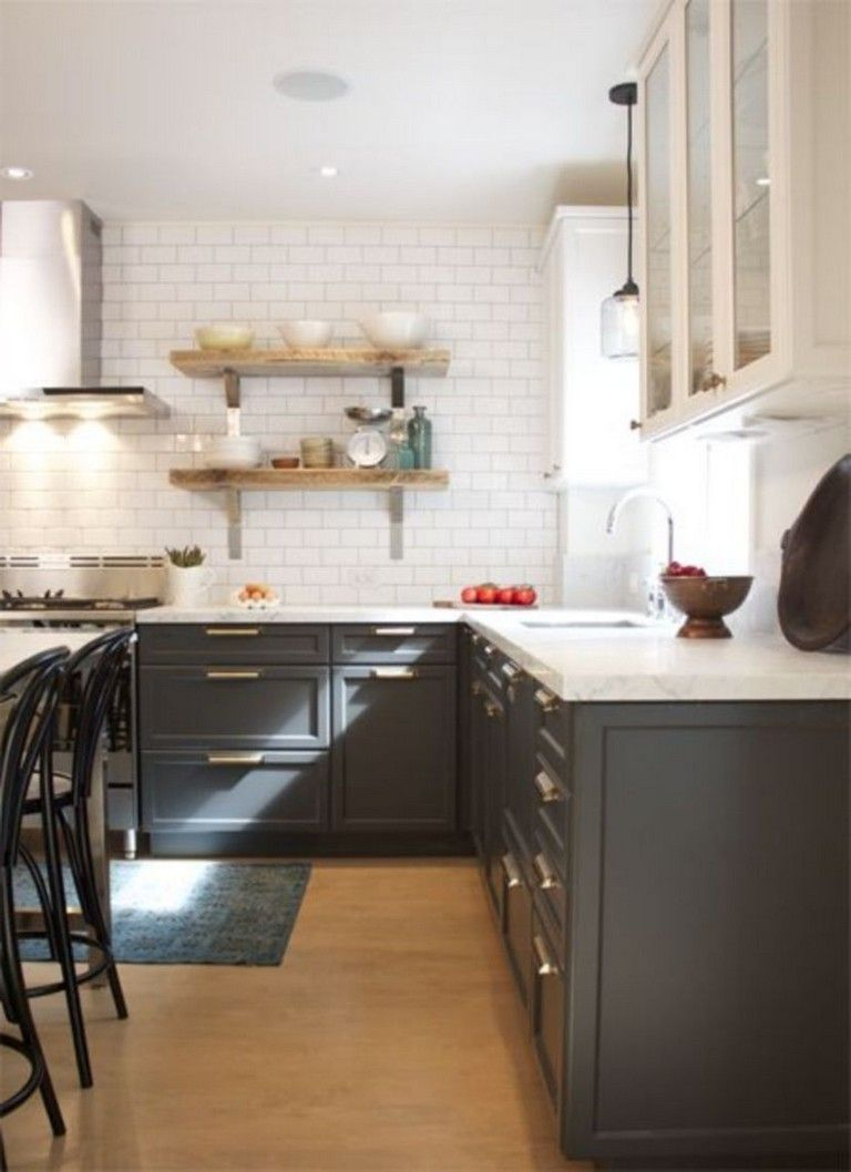 45 Fabulous Black And White Subway Tiles Kitchen Design Blackandwhite Subwaytiles Kitchendes Kitchen Tiles Design Grey Kitchen Cabinets Grey Kitchen Designs