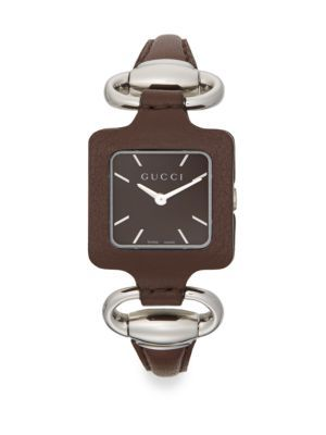 b42ebc38bab GUCCI 1921 Square Stainless Steel   Leather Watch.  gucci  watch ...