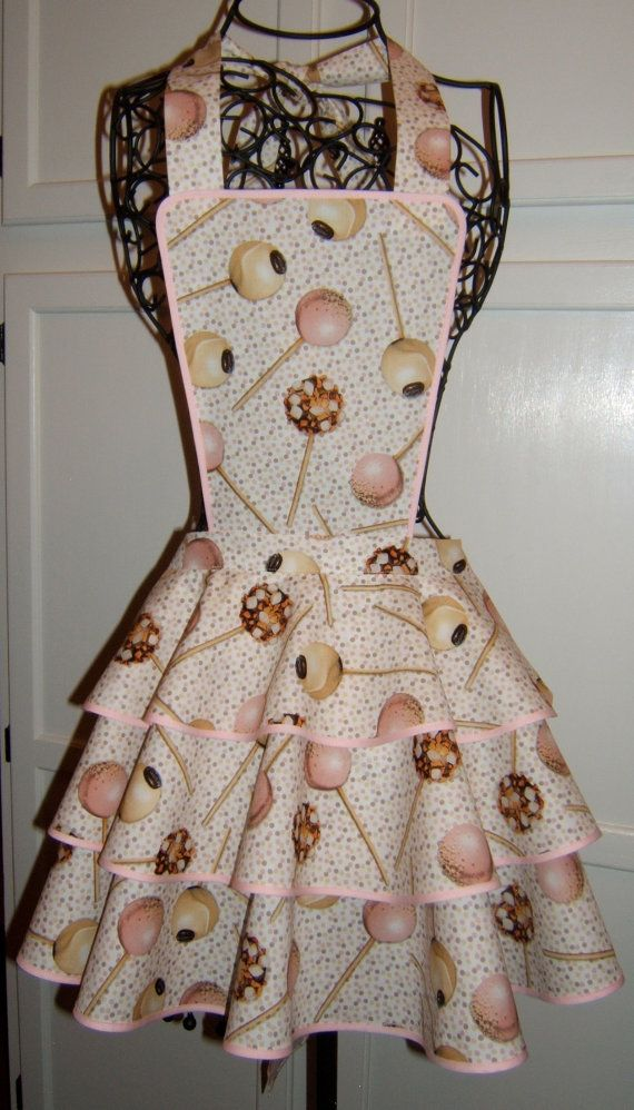 Cake Pop print full apron with a flirty by HappyHousewifeAprons, $24.00