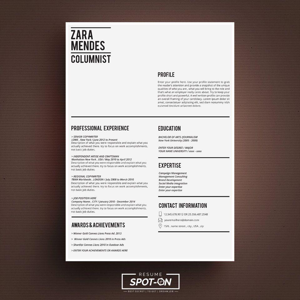 A Lasting impression Resume/CV design template + Free