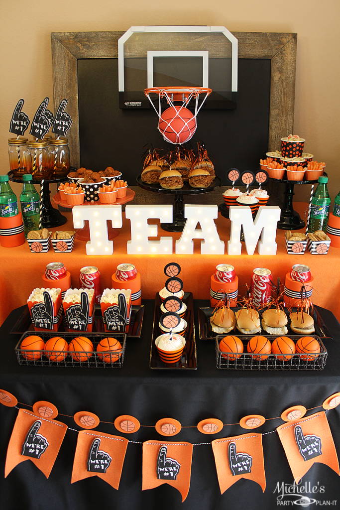 basketball party idea march maddness themed food mini basketball