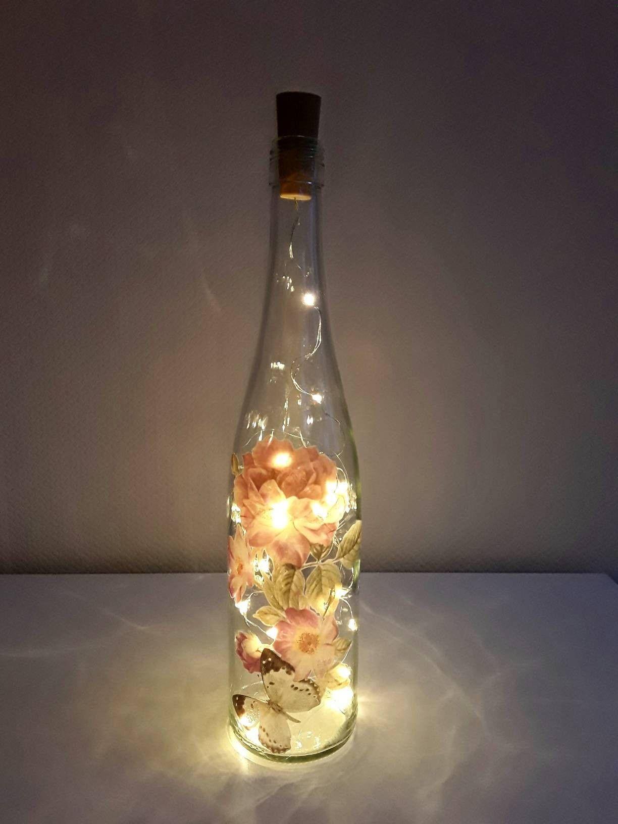 Flaschenleuchte Flaschenlicht Leuchtflasche