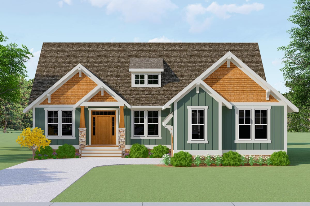 Plan 51817hz Country Craftsman House Plan With Split Bedrooms