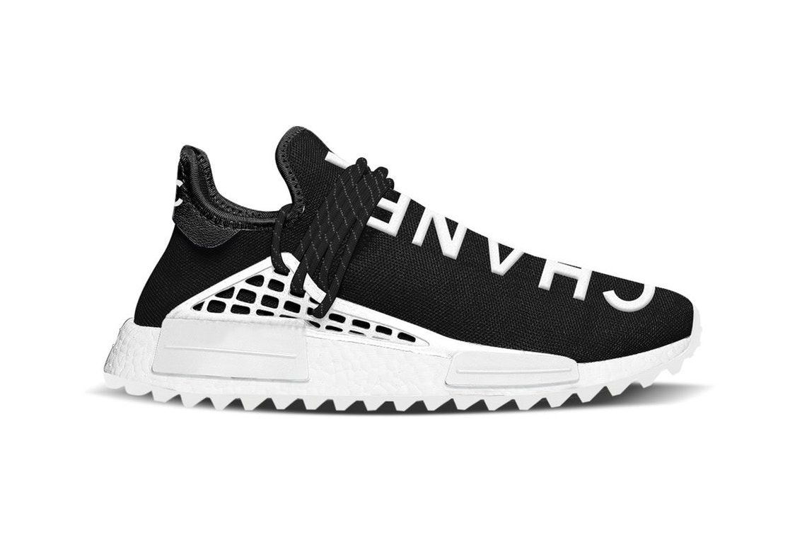 new arrival 22cef 41161 The web has seen a new leaked preview of possibly Pharrell Williams x  French fashion house Chanel. The image of the trainer hit the web this week  and boasts ...